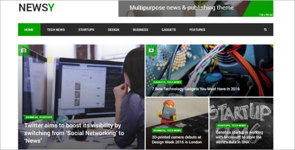 News Magazine Startup Website