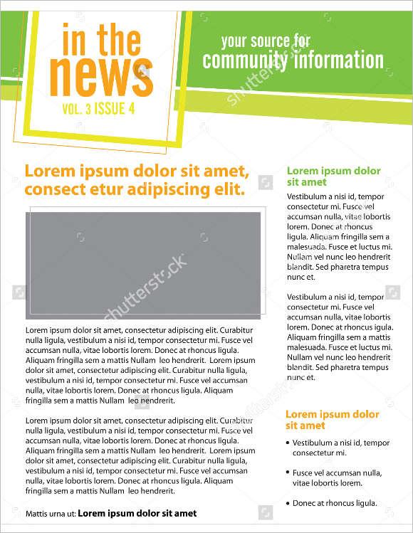 Newsletter Templates Model Template