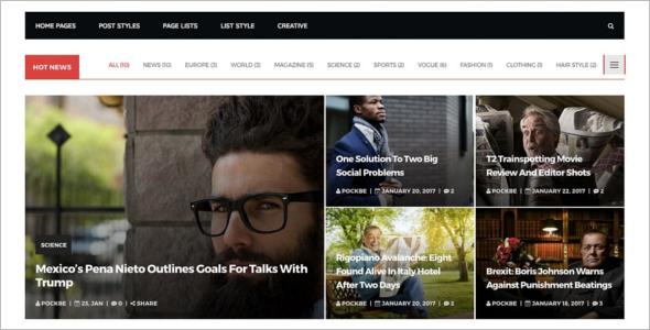 Newyork WordPress Template