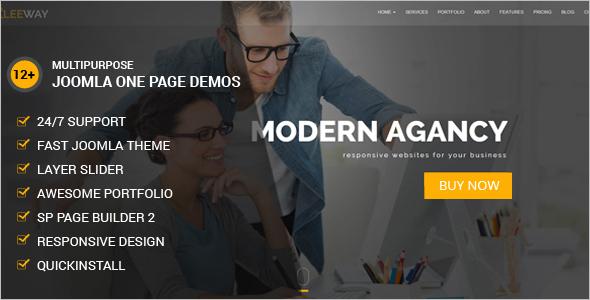 One Page Creative Joomla Theme