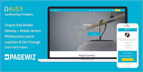 One Page Pagewiz Responsive Template