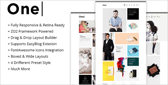 One Responsive Agency Joomla Template