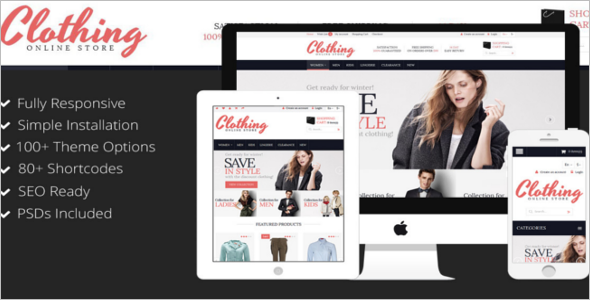 Online Clothing Store Google Slider Template