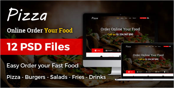 Online Restaurant & Cafe Joomla Template
