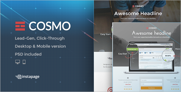 Optimized Instapage Landing Page Template