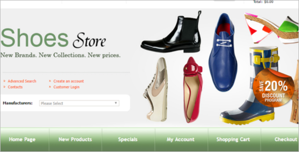 OsCommerce Shoes Store Template