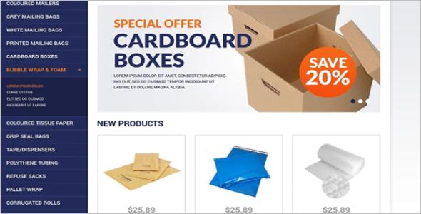 Packing Stuff Shop OsCommerce Template