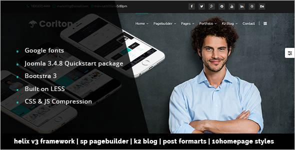 Page Builder Multi-Purpose Joomla Template