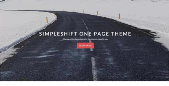 Parallax Work WordPress Template