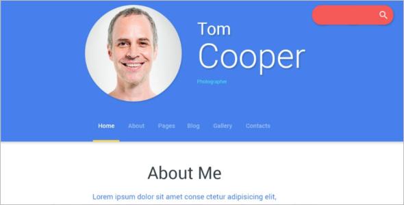 Personal Profile Joomla Template