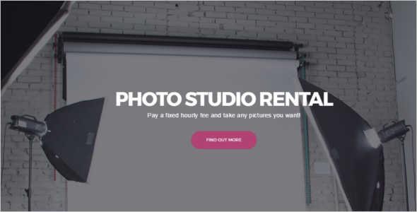 Photo Studio Rental WordPress Theme