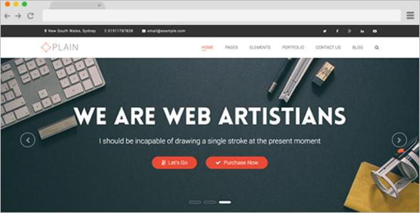 Plain Multi-Purpose Website Template