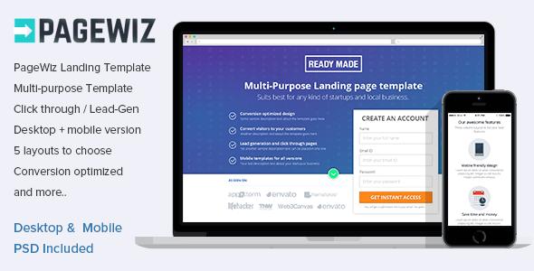 Premium Pagewiz Responsive Template