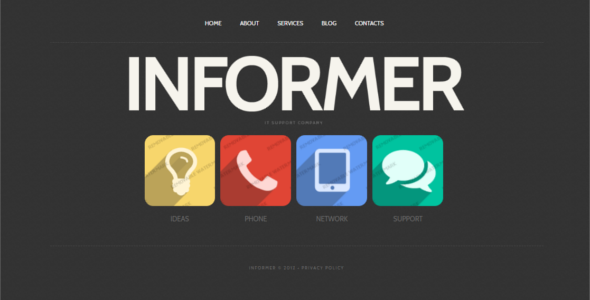 Premium Technology Website Template