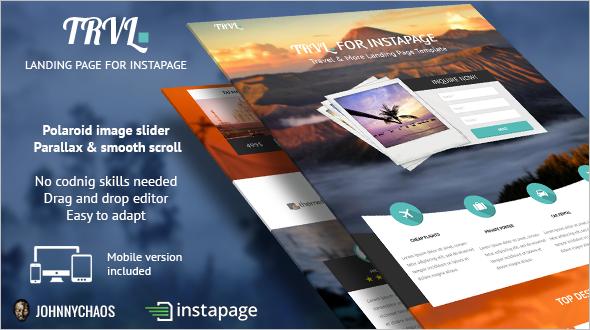 Premium Travel Instapage Landing Page