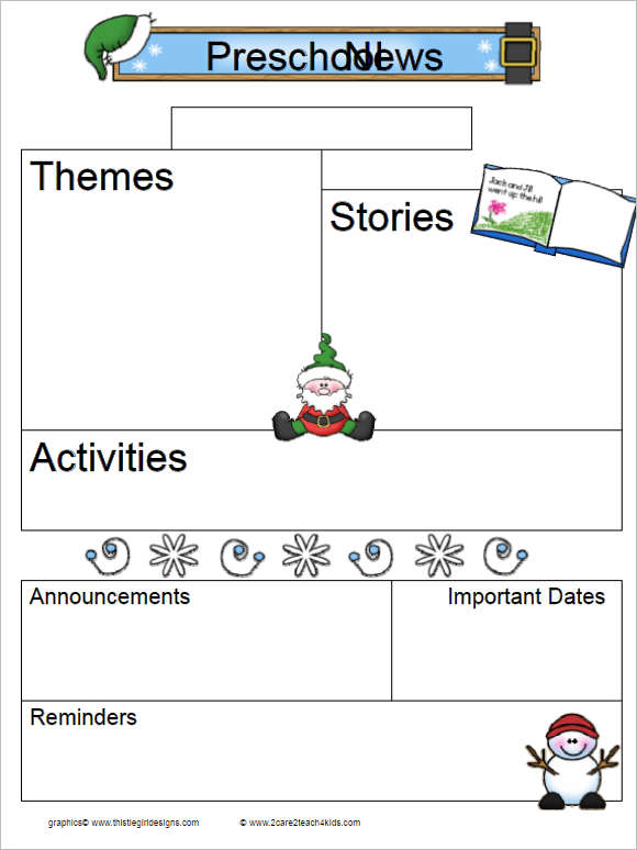 Kindergarten Newsletter Template  Famous By Naomi Shihab Nye