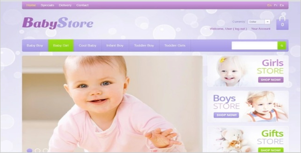 Printable Baby Oscommerce Template