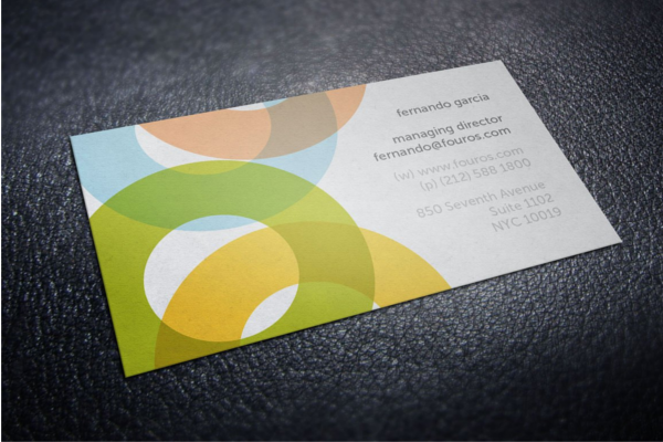 Printable Yellow Business Card