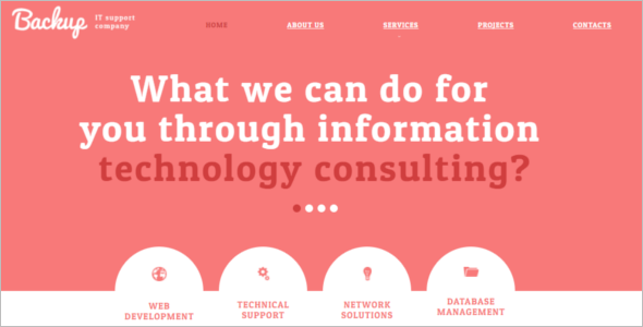 Professional Technology Website Template