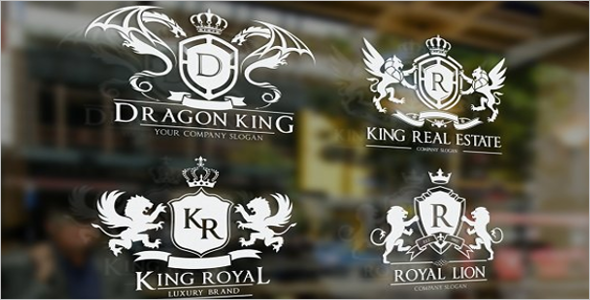 ROYALKING Crest Logo Design Template