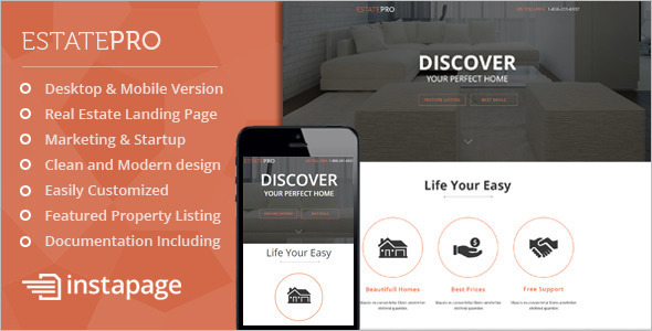 Real Estate Marketing Instapage Template