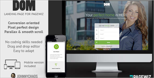 Real Estate Pagewiz Responsive Template