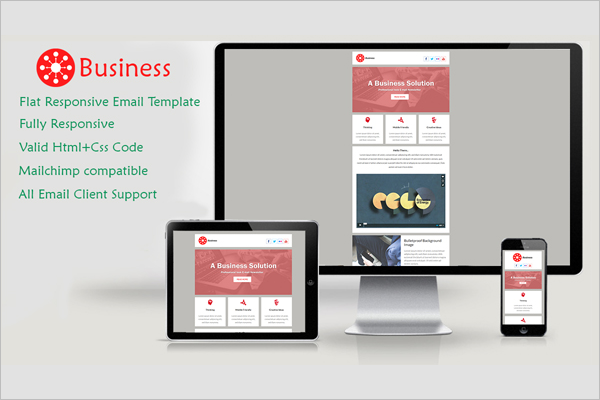 Responsive Business Template Card