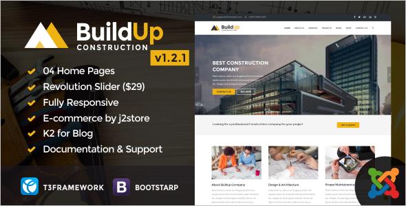 Responsive Construction Business Joomla