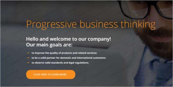Responsive Consultancy Business Website Template