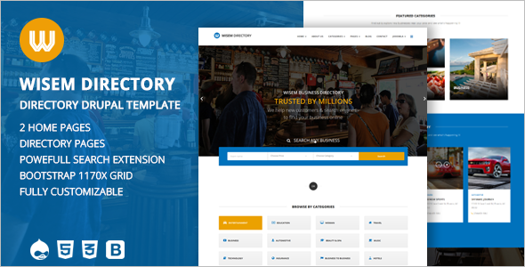 Responsive Directory template for Drupal