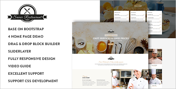 Responsive Food Industrial Drupal 8