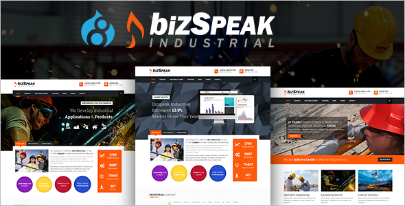 Responsive Industrial Drupal 8 Theme