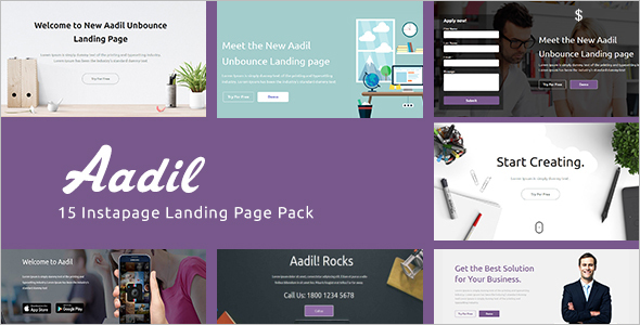 Responsive Instapage One Page Template