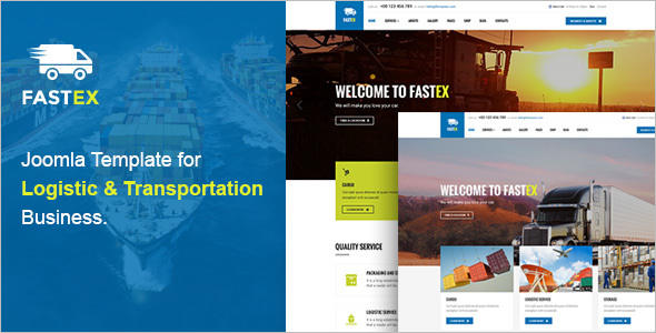 Responsive Logistics Joomla Template