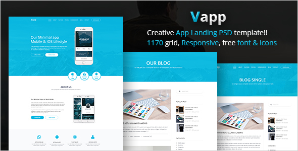 Responsive Marketing Web App