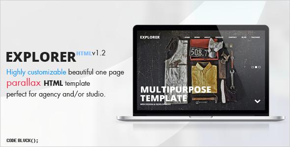 Responsive Parallax Agency Design