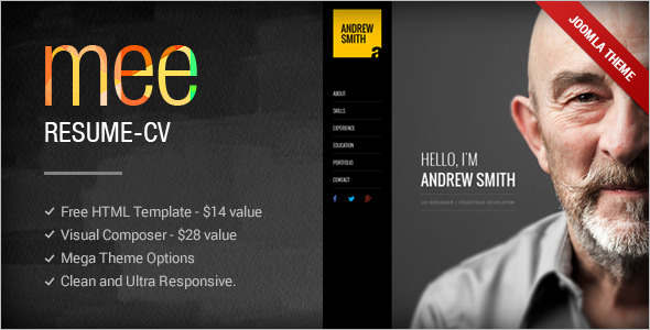 Responsive Personal Portfolio Joomla Template