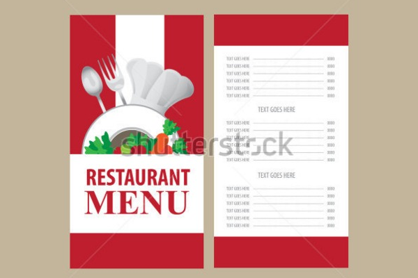 Restaurant Food Menu Designs