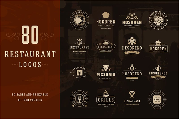 Restaurant Logo Badges