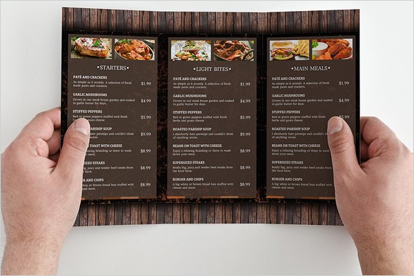 Restaurant Menu Template Outlook