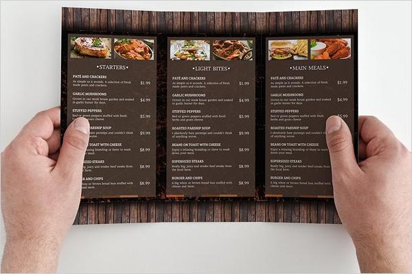 Restaurant Menu Template Outlook