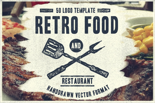 Retro Restaurant Food Logo