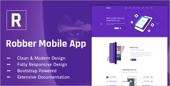 Robber Mobile App Landing Template