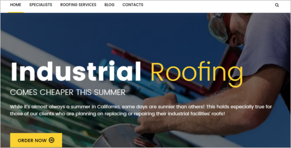 Roofing Coroporate WordPress Template