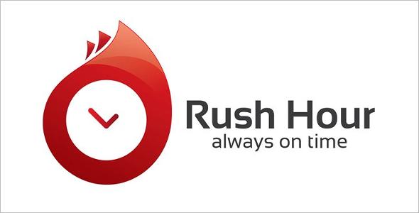 Rush Hour Symbols Logo Template