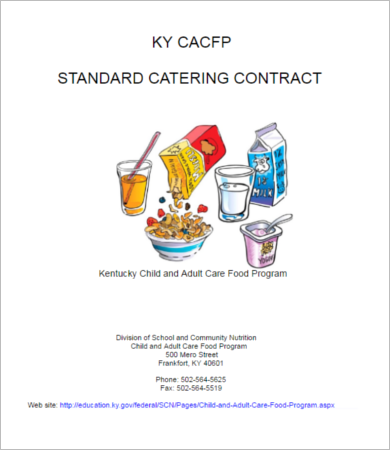 sample catering contract form