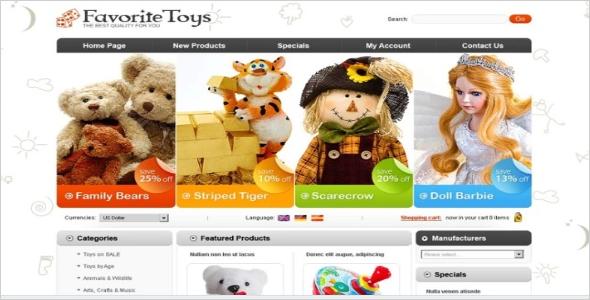 Sample Kids Oscommerce Templates