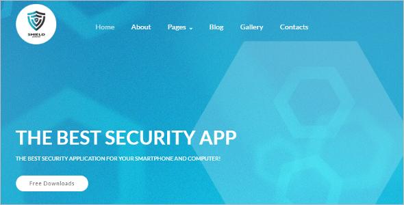 Security App Joomla Website Template