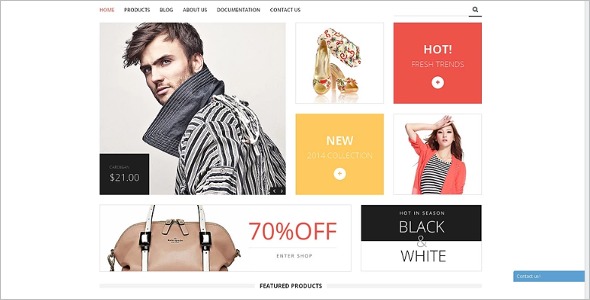 Shopify Fashion Store Responsive Template