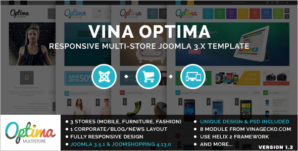 Shopping E-commerce Joomla Template